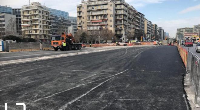 Θεσσαλονίκη: Μειώνονται οι λωρίδες στη Μοναστηρίου λόγω μετρό