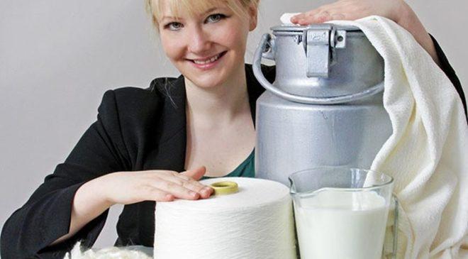 Επιχειρηματίας που φτιάχνει ρούχα από… ληγμένο γάλα!