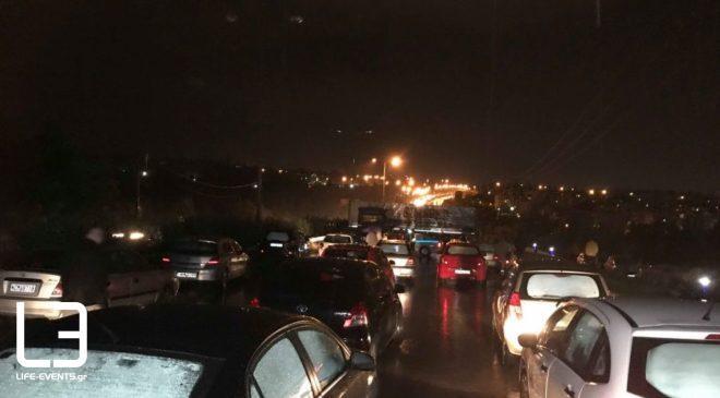 Θεσσαλονίκη: Ακινητοποιημένα τα οχήματα στο δρόμο του αεροδρομίου