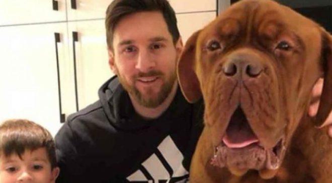 Ο Μέσι ποζάρει με τον γιγαντιαίο σκύλο του (ΦΩΤΟ)