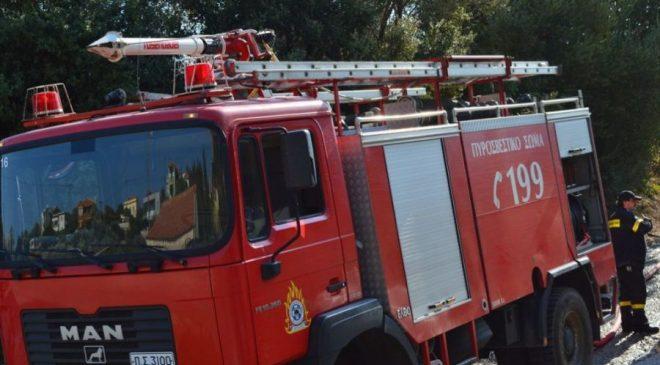 Μεγάλη φωτιά σε διαμέρισμα στο κέντρο της Αθήνας