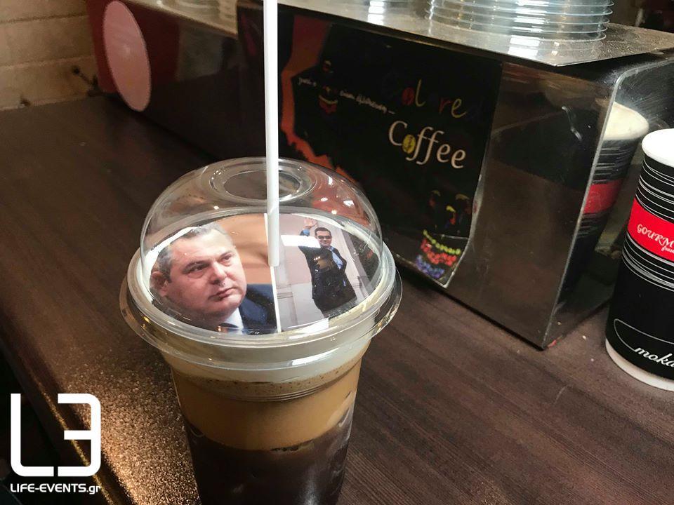 thessaloniki kafes selfieccino tsipras kammenos