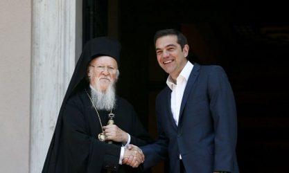 Ζωντανή μετάδοση από τη Χάλκη η συνάντηση Βαρθολομαίου-Τσίπρα