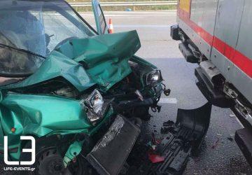 Τροχαίο με έξι τραυματίες στην ΕΟ Λάρισας – Τρικάλων (ΒΙΝΤΕΟ)