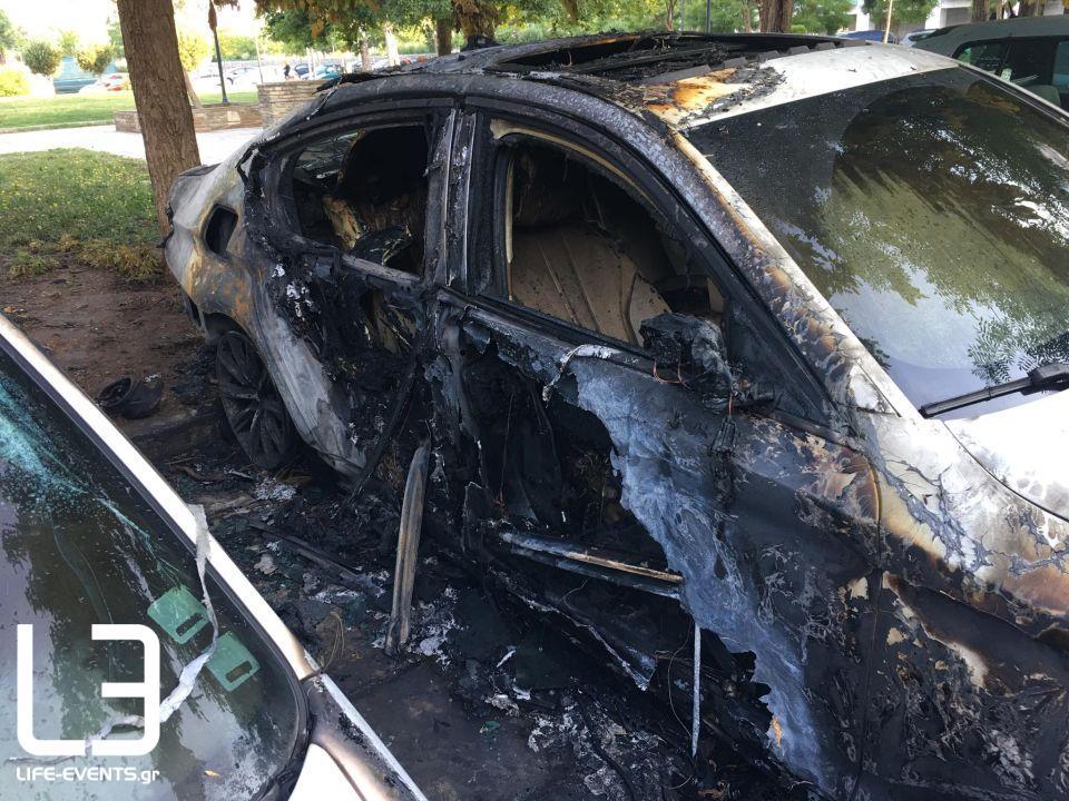 Θεσσαλονίκη φωτιά Κορδελιό οχήματα εμπρησμό εμπρησμός