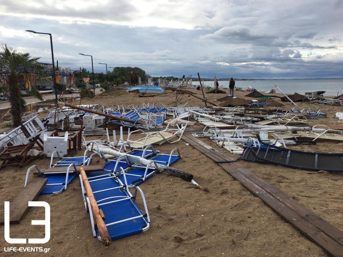 xalkidiki katastrofes Καιρός