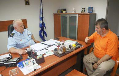 Τι συζήτησε ο Σίμος Δανιηλίδης με το νέο Διευθυντή της Τροχαίας