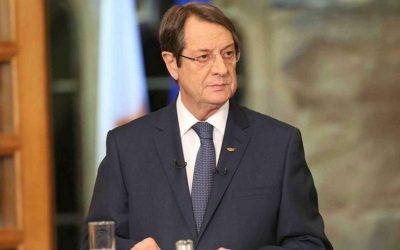 Στην Αθήνα αύριο ο πρόεδρος της Κύπρου Νίκος Αναστασιάδης