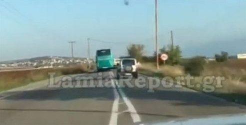 Τρόμος στον δρόμο, επικίνδυνες προσπεράσεις από οδηγό λεωφορείου!