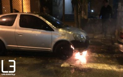Θεσσαλονίκη: Φωτιά σε όχημα στην Ανω Πόλη