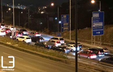 Θεσσαλονίκη: Τροχαίο στον Περιφερειακό – Με λάδια γέμισε ο δρόμος