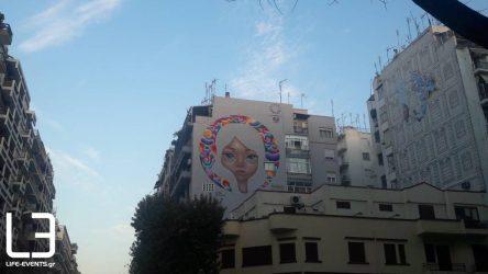 Μία υπέροχη νέα τοιχογραφία, στην «καρδιά» της Θεσσαλονίκης (ΦΩΤΟ)