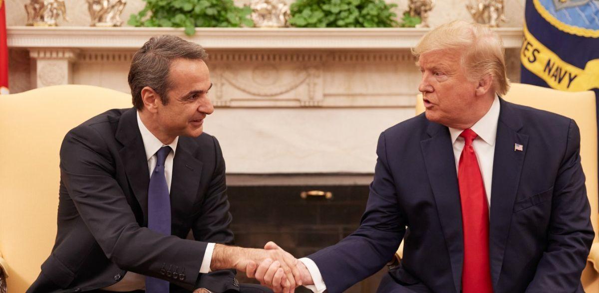 """Τραμπ: """"Εξαιρετικός ηγέτης ο Κυριάκος Μητσοτάκης"""""""