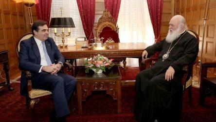 Συνάντηση του Αρχιεπισκόπου Ιερωνύμου με τον Μαργαρίτη Σχοινά (ΒΙΝΤΕΟ)