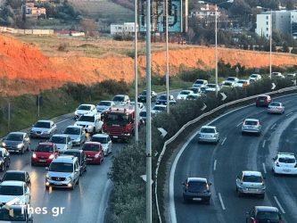 Θεσσαλονίκη: Τροχαίο στον Περιφερειακό – Μεγάλο μποτιλιάρισμα στο σημείο