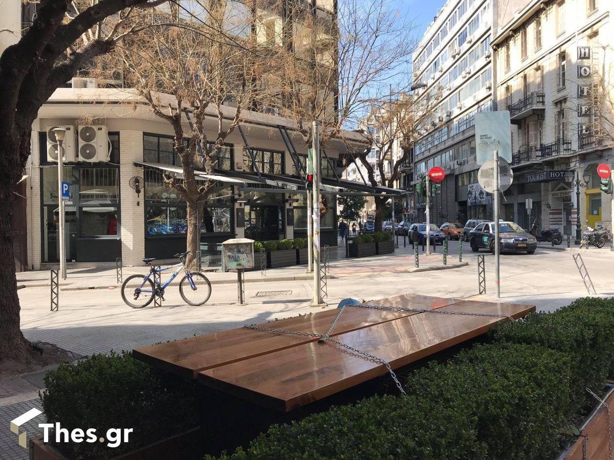 Θεσσαλονίκη αγορά πόλη κίνηση έρημη lockdown