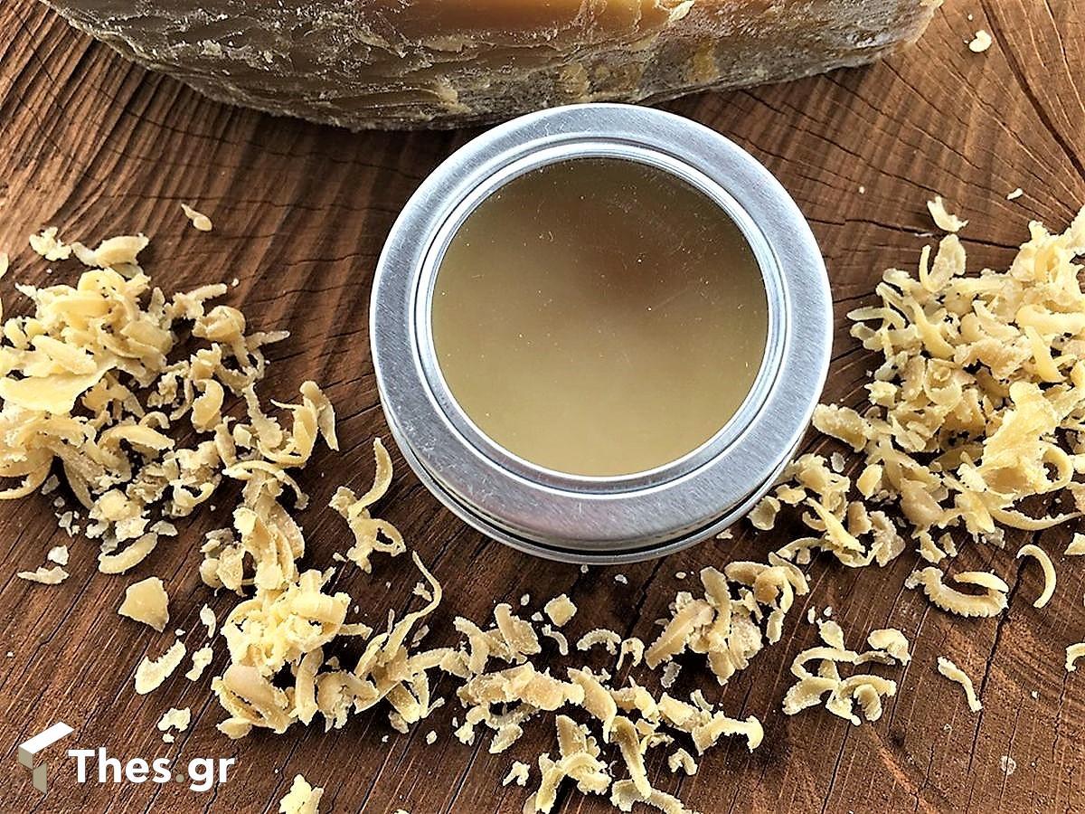 χέρια κρέμα κεραλοιφή DIY μελισσοκέρι