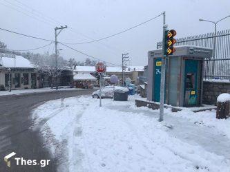 χιόνι Θεσσαλονίκη χιόνια Πολιτική Προστασία