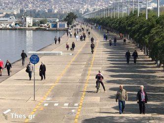 Θεσσαλονίκη: Πρωινή βόλτα στην παραλία με τα απαραίτητα μέτρα (ΒΙΝΤΕΟ & ΦΩΤΟ)