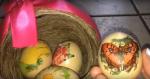 Πάσχα αυγά διακοσμήστε ντεκουπάζ