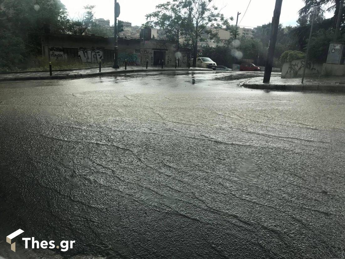 βροχή Θεσσαλονίκη Λαγκαδά