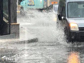 βροχή Θεσσαλονίκη καταιγίδες καιρός Ιανός