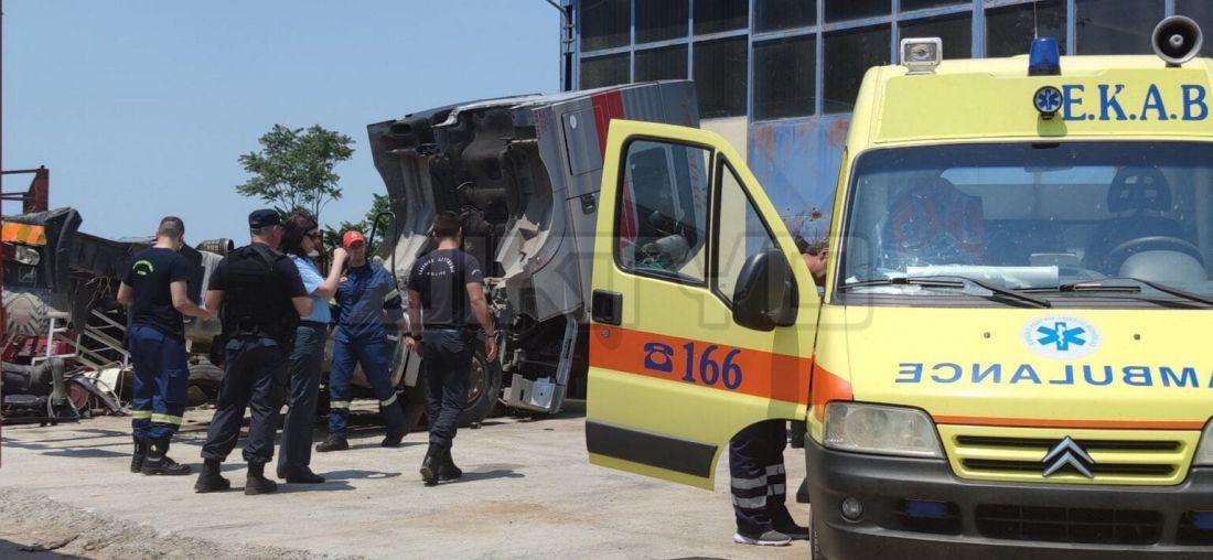 Σέρρες: Τραγικό δυστύχημα σε συνεργείο (ΒΙΝΤΕΟ & ΦΩΤΟ)