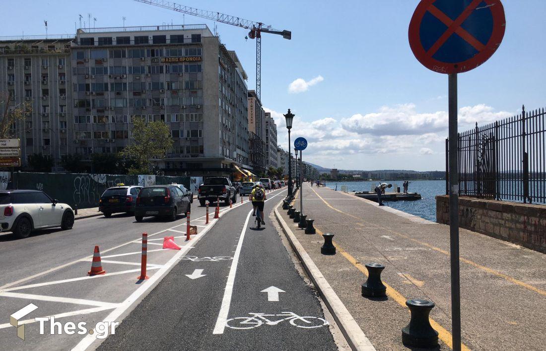 Θεσσαλονίκη: Μπήκαν και τα πασαλάκια στον ποδηλατόδρομο (ΦΩΤΟ), φωτογραφία-5
