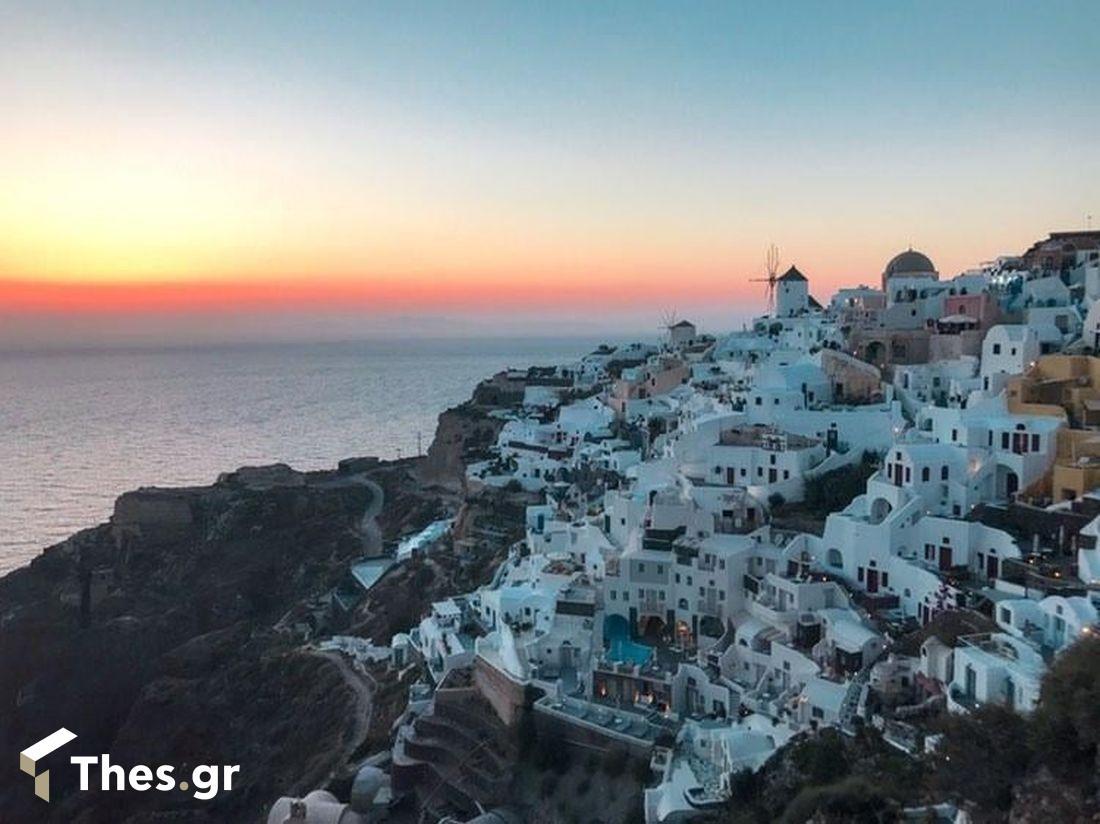 Ελλάδα Θεσσαλονίκη Σαντορίνη σαν σήμερα τουρίστες κλιματική αλλαγή