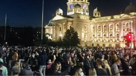 Βελιγράδι, Σερβία, επεισόδια, κορονοϊός
