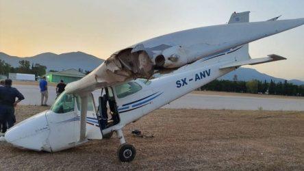 Μονοκινητήριο αεροπλάνο βγήκε εκτός πίστας – Σώος ο πιλότος