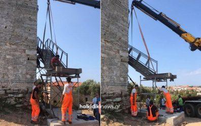 Χαλκιδική: Ο Πύργος στη Νέα Φώκαια ετοιμάζεται για να δεχθεί κόσμο