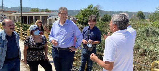 Επίσκεψη Γιαννούλη στις πληγείσες περιοχές του Δήμου Λαγκαδά