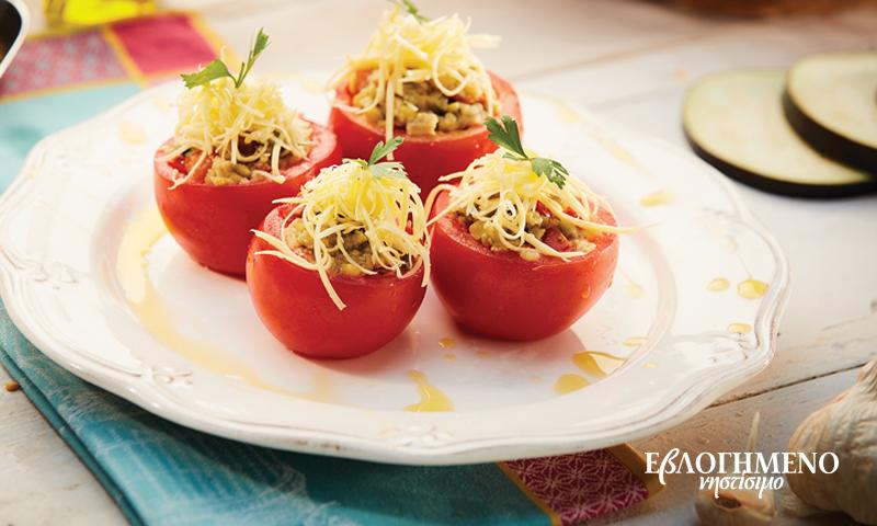 Ντομάτες γεμιστές με φάβα, λαχανικά και ΕβΛΟΓΗΜΕΝΟ