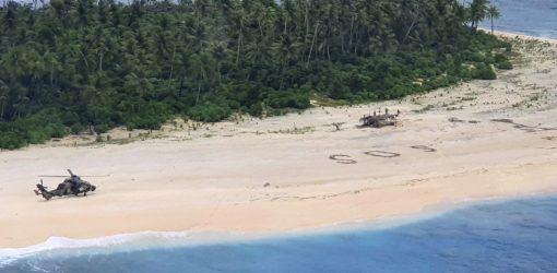 Ναυαγοί σώθηκαν γράφοντας SOS στην άμμο! (ΒΙΝΤΕΟ)
