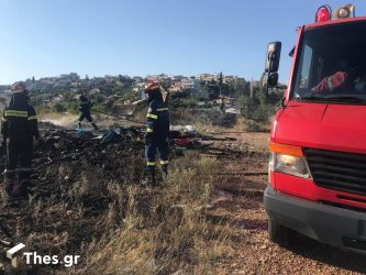 Θεσσαλονίκη: Φωτιά τώρα στην περιοχή της Αγίας Τριάδας