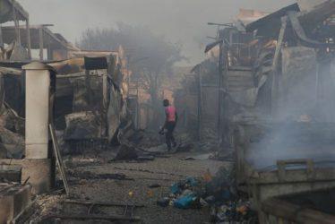 Μόρια: Κάθειρξη 10 ετών στους δράστες για τον εμπρησμό του καταυλισμού
