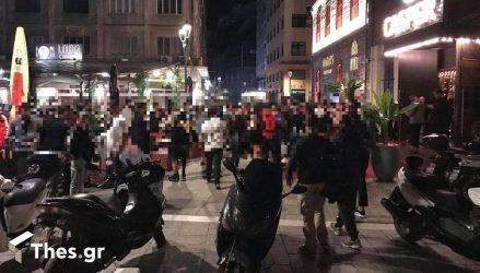 Σάββατο βράδυ με πολύ κόσμο έξω στη Θεσσαλονίκη (ΦΩΤΟ)