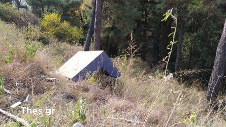 Θεσσαλονίκη δάσος Σέιχ Σου καναπές σκουπίδια