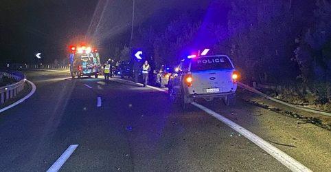 Εννέα τραυματίες σε τροχαίο μετά από καταδίωξη έξω από την Καβάλα (ΦΩΤΟ)
