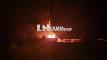 Τραυματίες από φωτιά σε αποθήκη με φιάλες υγραερίου στη Λαμία (ΒΙΝΤΕΟ & ΦΩΤΟ)