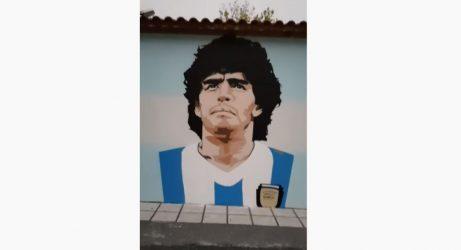 Εντυπωσιακό graffiti του Μαραντόνα στην Καλαμαριά! (ΦΩΤΟ)