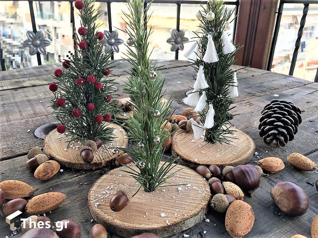 DIY μίνι διακοσμητικά χριστουγεννιάτικα δέντρα δέντρο