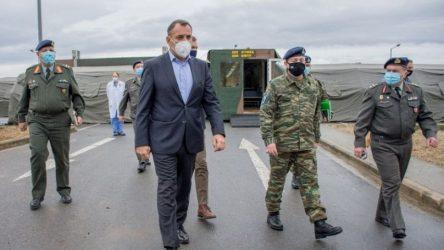 Το Γ' Σώμα στρατού και το 424 Γ.Σ.Ν.Ε. επισκέφθηκε ο Νίκος Παναγιωτόπουλος
