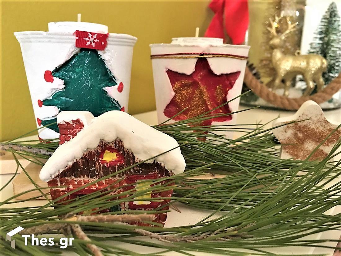 DIY χριστουγεννιάτικο κηροπήγιο