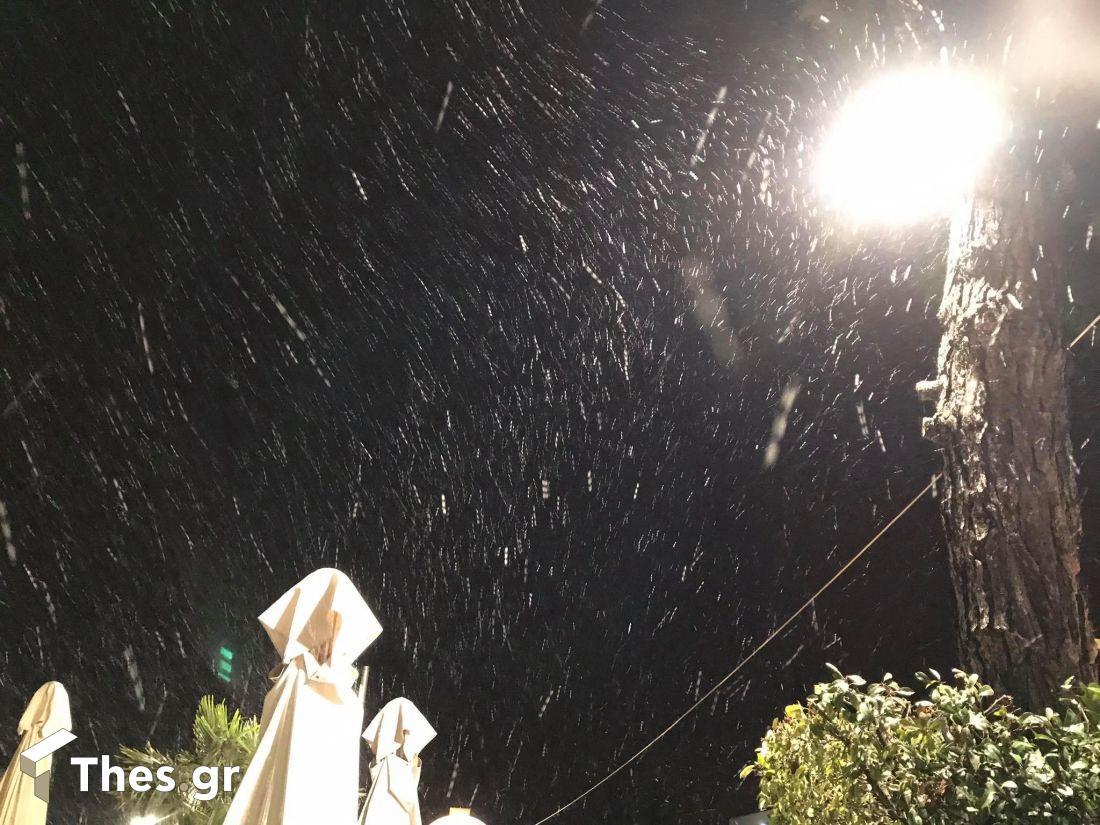 Θεσσαλονίκη Πανόραμα χιόνι χιόνια