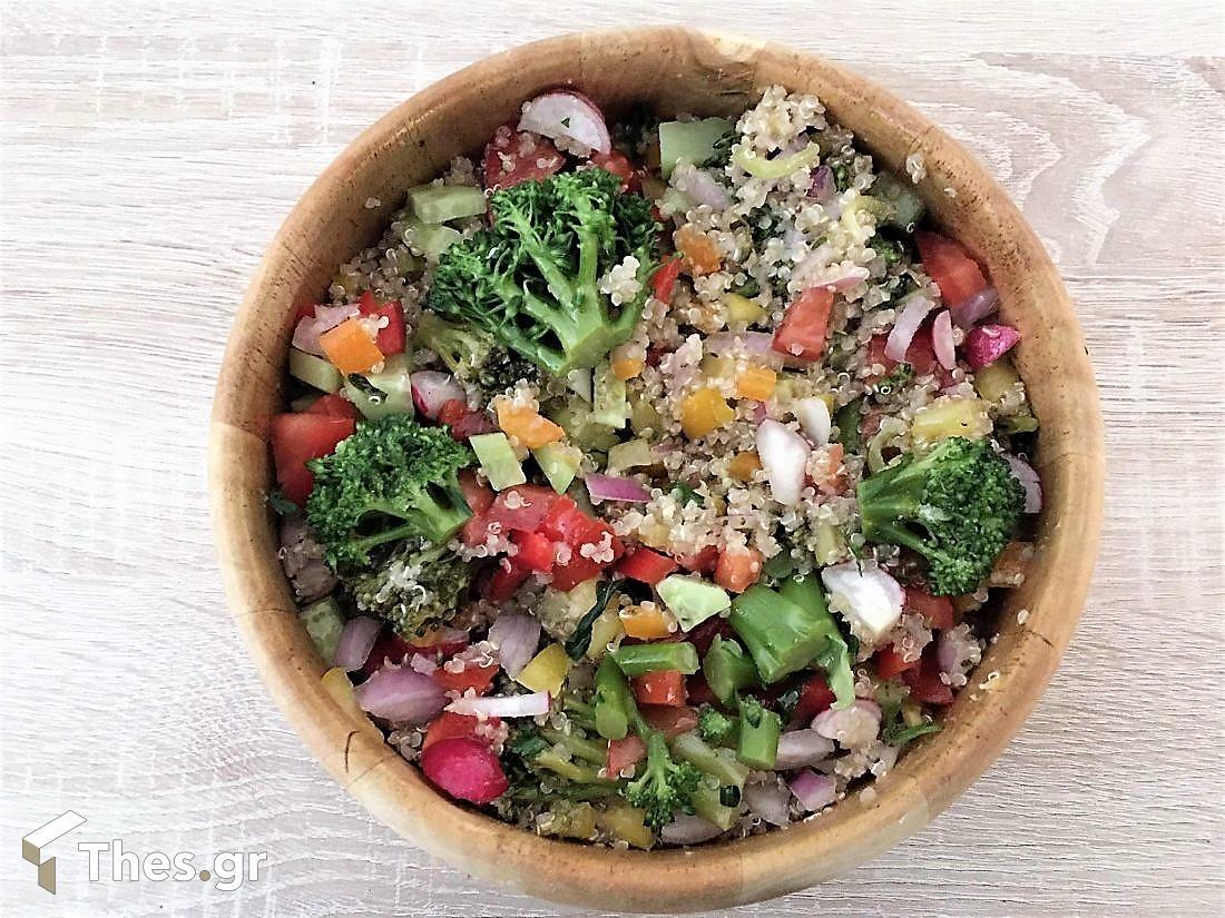 κινόα σαλάτα θρεπτική συνταγή