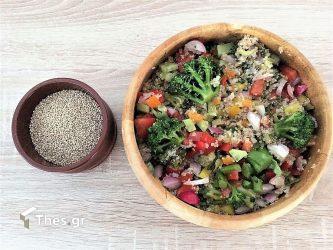 Θρεπτική σαλάτα κινόα με λαχανικά
