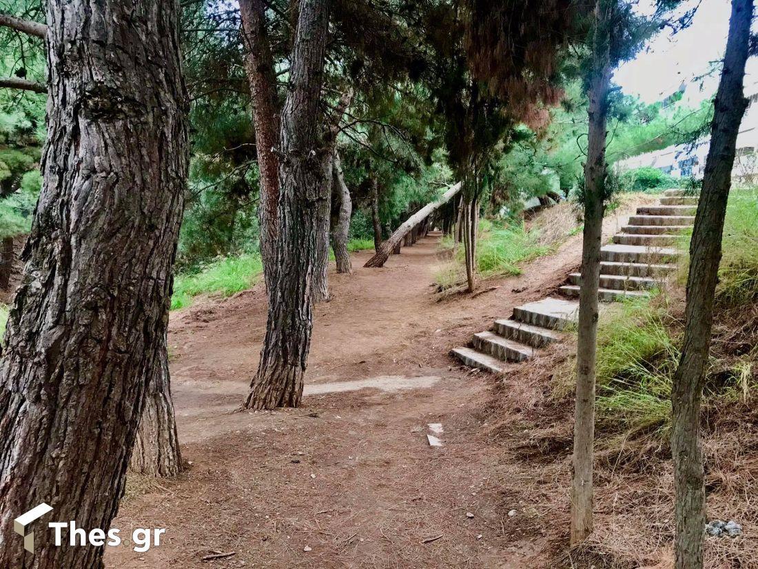 Θεσσαλονίκη διαδρομή πόλη περπάτημα Ανάχωμα Ρέμα Τούμπας