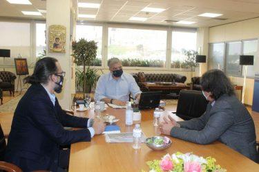 Συνάντηση του Περιφερειάρχη Αττικής Γιώργου Πατούλη με τον Πρόεδρο της Ελληνικής Παραολυμπιακής Επιτροπής